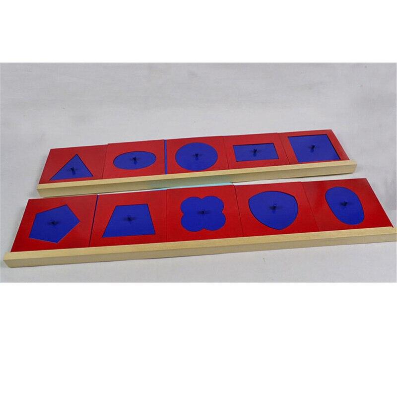 Bébé jouet Montessori métal ensembles/10 pour l'éducation de la petite enfance formation préscolaire apprentissage jouets formes géométriques - 3