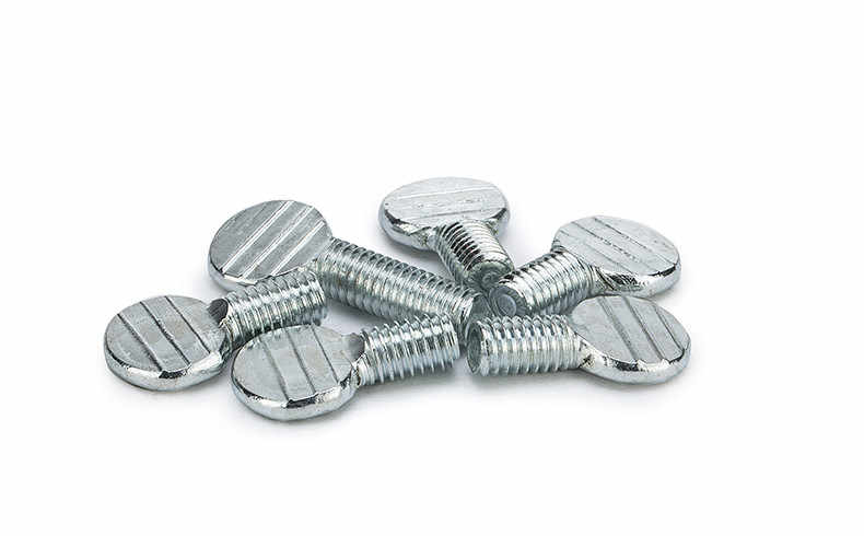 30pcs M4 carbon steel galvanized handle screws chassis hand twist screw thumb table tennis racket bolt 14mm length