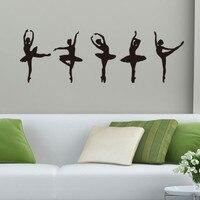 Art ballet girls vinyl wall decal home decor living room bedroom diy wallpaper removable wall stickers