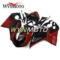 Выполните Обтекатели для Ducati 1098 848 1198 2007 2012 впрыска ABS пластик 1198 07 12 кузов красные, черные кадров sportbike Панель