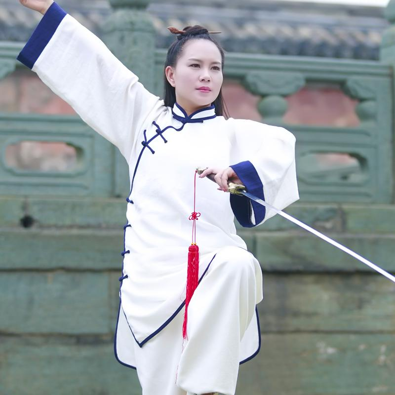 Wudang Tai Ji Blue Outlined Female Uniform