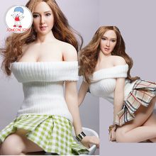 1/6 échelle hotthings UD TBL femme chemise jupe à carreaux pour 12 pouces fille figurines daction