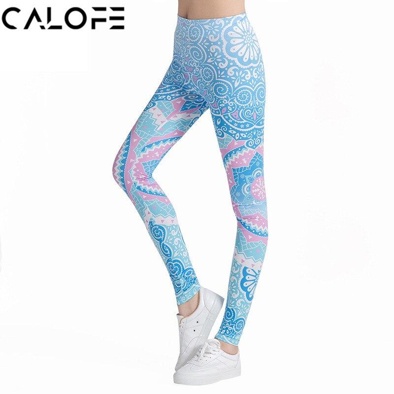 CALOFE Women Sport Pants Gym Leggings Printed Slim Running Tights Pants Elastic Fitness  Gym Trousers Training Yoga Pants