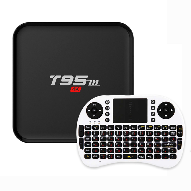 T95M Android Tv Box 1 GB/2 GB (Opcional) construido en 2.4G WiFi S905X Android 5.1 Quad Core H.265 Amlogic 4 K media player smart set top