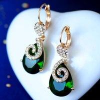 Для женщин свадебные простые преувеличены Кристаллические серьги уха клип женский ретро Длинные Серьги серебро ювелирные изделия объем Ли