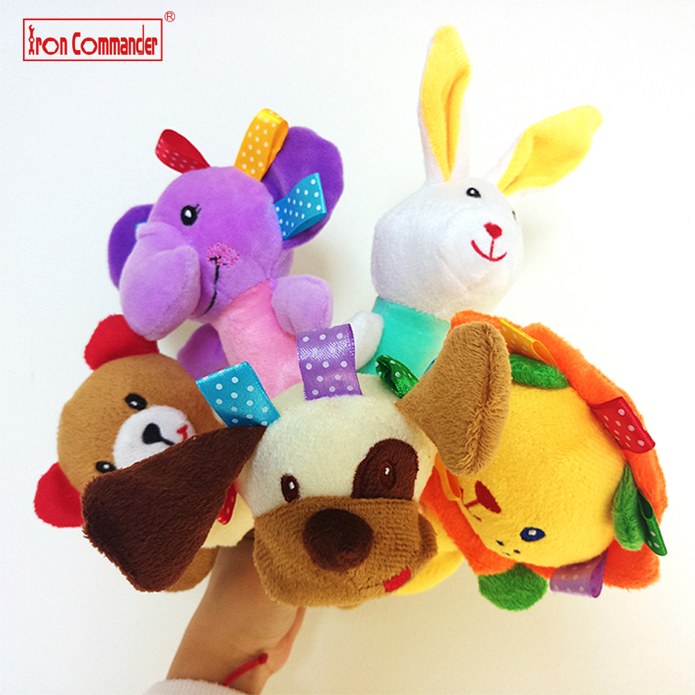 1 Pc 0-3 Year Baby Kids Cute Animal Plush Rattles Hand Bells lion Bear rabbit BB Sound Educational Funny Toys Gift for Newborn