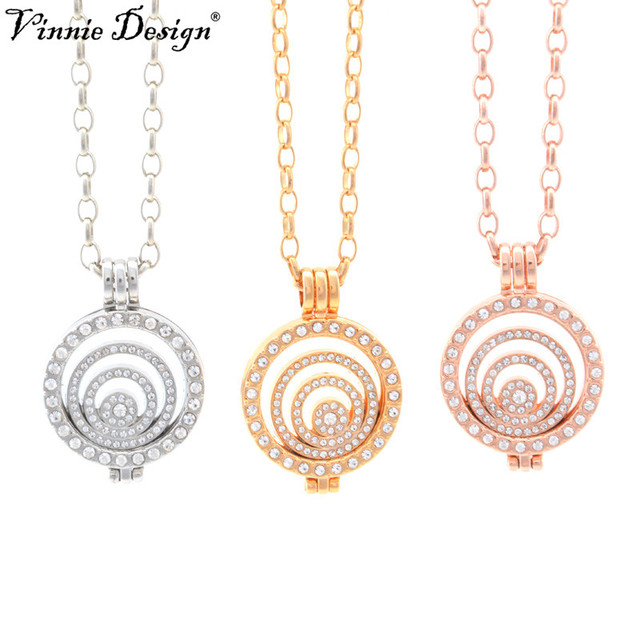 Vinnie design 25mm coin necklace sets coin holder fit my 25mm coin vinnie design 25mm coin necklace sets coin holder fit my 25mm coin pendant disc interchangeable fashion aloadofball Images