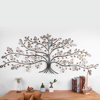 iron money tree wall decoration Creative 3D background metal garden decors india decoration Retro and Nostalgic/Old Furniture