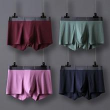 High Quality Men Modal Seamless Mid waist Underpants Mens Underwear Soft Comfort Cotton Intimate Male Panties L 3XL