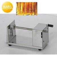 스테인레스 스틸 나선형 감자 칩 메이커 기계 수동 감자 타워 커터 슬라이서 칩 커팅 머신
