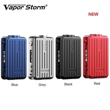 цена на NEW Original Vapor Storm Trip TC Mod Max 200W Smallest E-cig Mod with 0.91 Inch Screen Support 18650 Battery Vs Shogun Drag 2