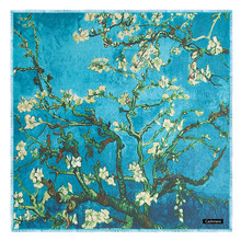 [POBING] luksusowa marka miękki kaszmir wełny kwadratowy szalik dla kobiet hiszpania LifeTree szalik fular zimowe szale Wrap Pashmina