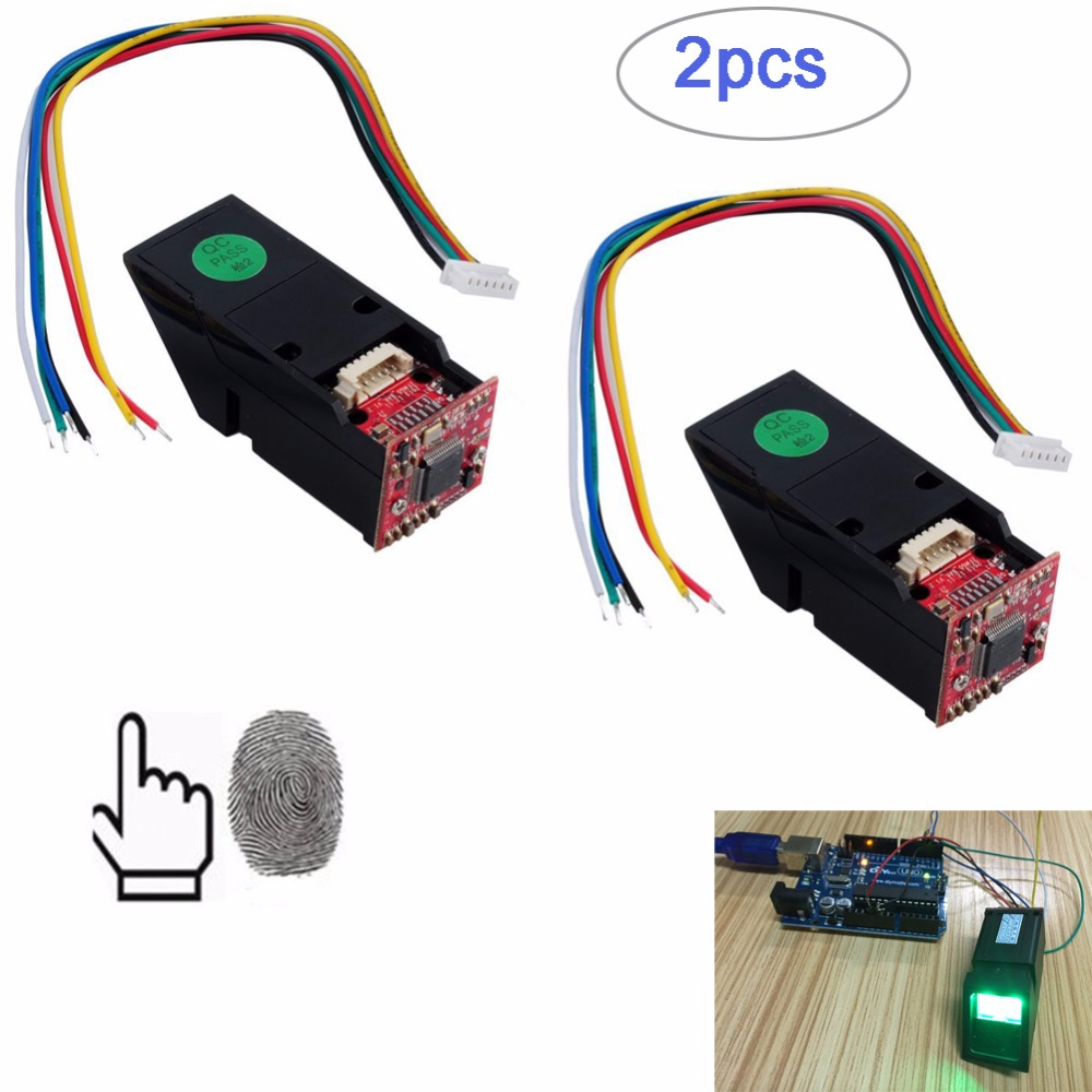 2pcs Green Light Optical Fingerprint Reader Sensor Module for Arduino Mega2560 UNO R3 RCmall FZ1035G