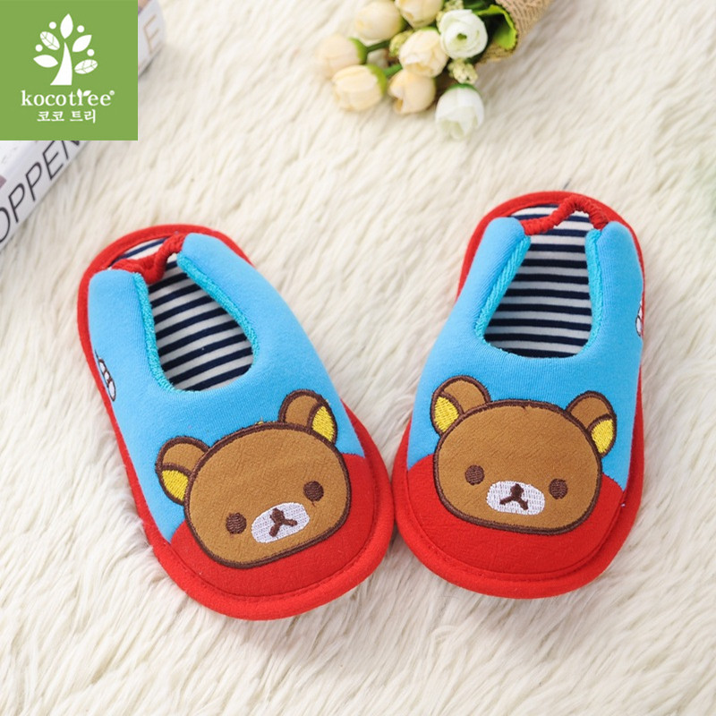 2018 Children'S Cotton Shoes Kids Home Slippers Boys And Girls Baby Cute Thickening Warm Indoor Shoes 0805