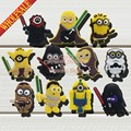 Top selling 22pcs/lot Despicable me Minions of Star War shoes decoration shoe accessories shoe charms fit croc charms kids gifts