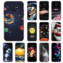 Ojeleye Fashion Black Silicon Case For Samsung Galaxy A5 2018 Cases Anti-knock Phone Cover A8 A530F Covers