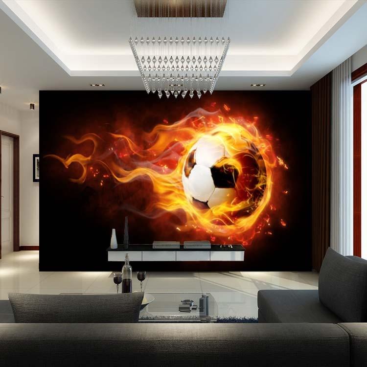 3D Football Mural wallpaper Soccer full Wall Murals print decals ...