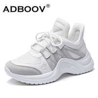 ADBOOV Mode Turnschuhe Frauen Übergroßen 35-43 Atmungsaktive Damen Casual Schuhe Turnschuhe Dad Chunky Schuhe Frau