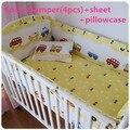Promoção! 6 / 7 PCS berço cama conjunto para meninas Cartoon recém-nascido berço de algodão roupa de cama colcha, 120 * 60 / 120 * 70 cm
