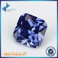 30 Pcs Praça Octangle Forma do Corte Da Princesa 5A Azul Zirconia Pedra 3x3-10x10mm Gemas Sintéticas CZ pedra Para Jóias