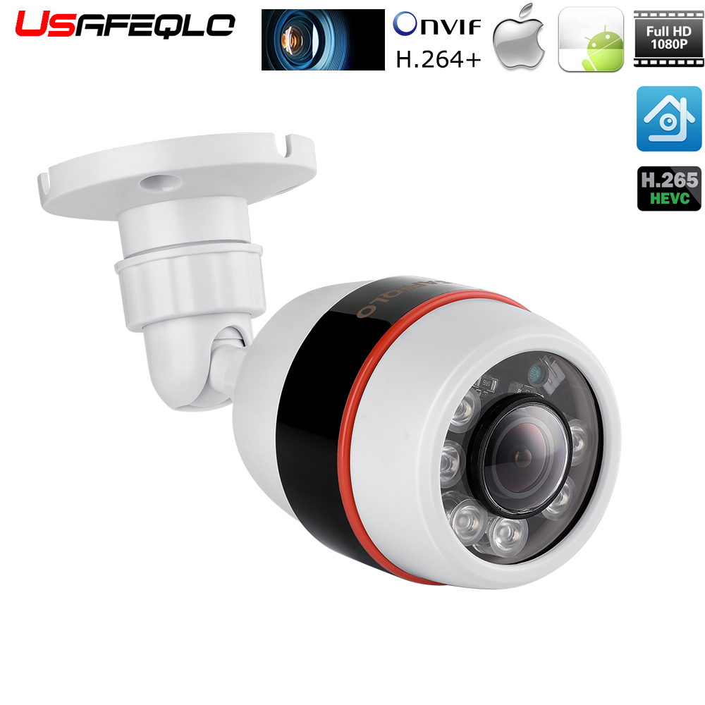 Wired IP66 Waterproof Stabler Connection Compared with WiFi Cameras SV3C Technology SV-B01-1080P-POE 20Meter Night Vision SV3C POE Camera 1080P IP Camera Outdoor Home Security Surveillance Camera