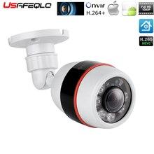 USAFEQLO caméra de surveillance extérieure IP PoE 1.8mm, grand Angle, 1080P 960P 720P, boîtier ABS ONVIF, dispositif de sécurité IP étanche, vidéosurveillance, 6 pièces rangée de LED