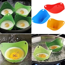 New Hot sale Silicone Egg Poacher Cook Poach Pods Kitchen Tool Baking Cookware Poached Cup 3YN