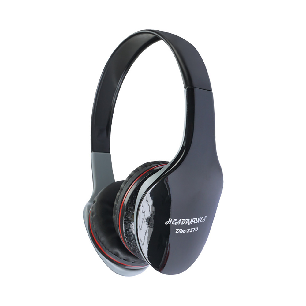 DM- 2570 Wired Headphones 3.5mm Plug Foldable Adjustable Headphone Gaming Music Headset For PC