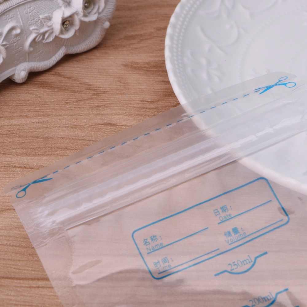 250 мл 1 шт Предварительно стерилизованные BPA бесплатно детские пищевые пакеты для хранения грудного молока Хранение продуктов
