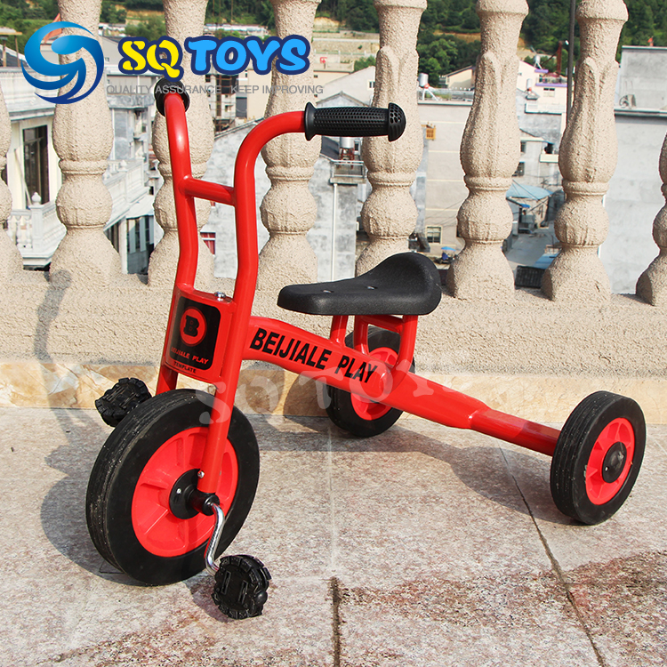 ФОТО Wholesale 5 Sets Indoor and Outdoor Red Attractive Tricycle for Kids New Design Fitness Pedal for Children Baby Tricycle