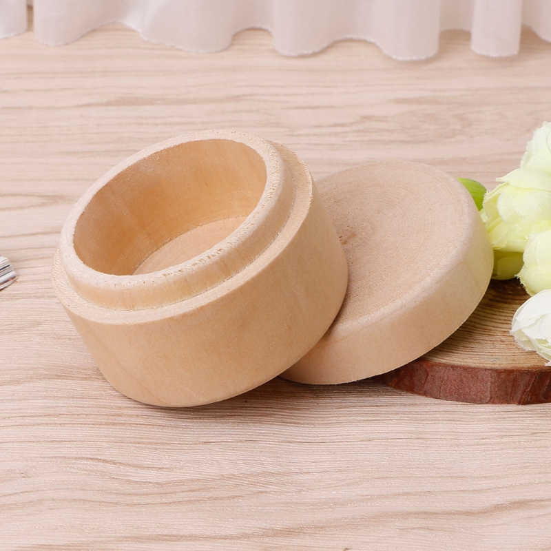 Soap Case Round Wooden Jewelry Storage Box Desktop Makeup Organizer Handicraft Makeup Organizer Box