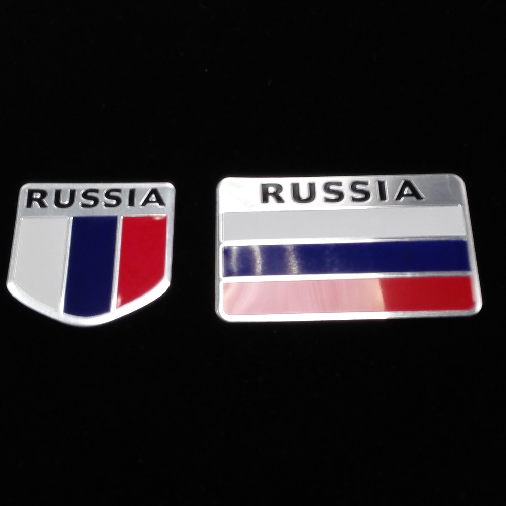 3D Aluminum Russia Flag car sticker accessories stickers For /VW/mazda/ mitsubishi/cruz/Peugeot /opel /skoda/ford lada lifan USE