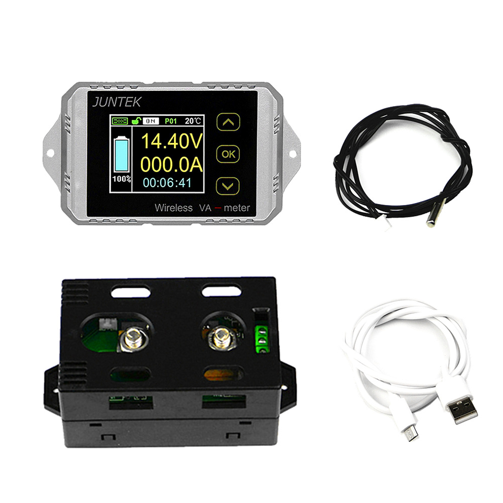 DC 120V 200A Wireless Ammeter Voltage KWh Watt Meter Car Battery Coulometer Capacity Tester Power Monitor mhf 120200p multifunction high power wireless lcd digital dc voltmeter ammeter power meter wattmeter ovp ocp 0 120v 200a