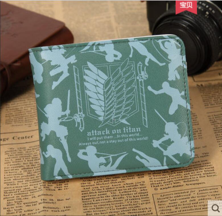 Anime Attack on Titan COSPLAY Student casual fashion PU wallet men and women birthday gift
