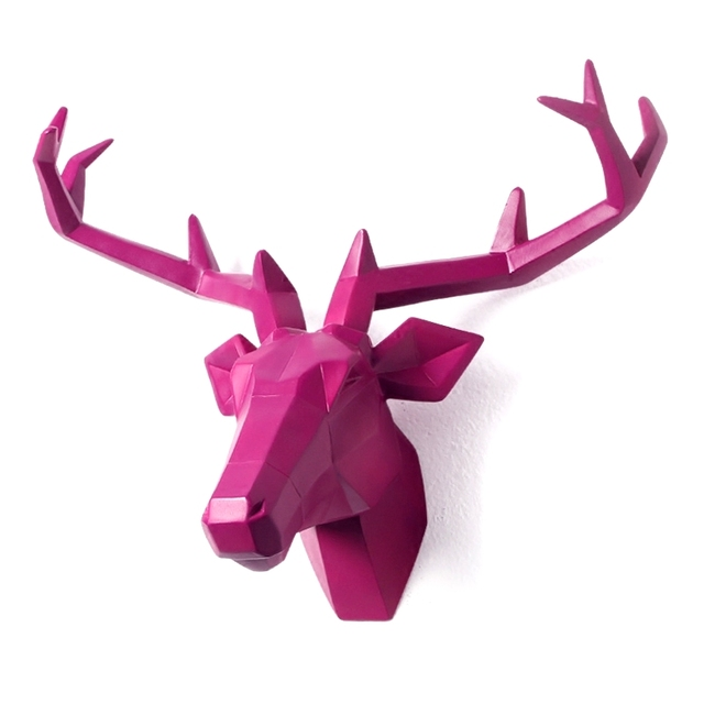 marvelous Deer Head Wall Decor Part - 16: 4 Color Available New Metallic Plating Animal Deer Head Wall Decoration Head  Resin Wall Ornament Xmas Gift Creative Gift