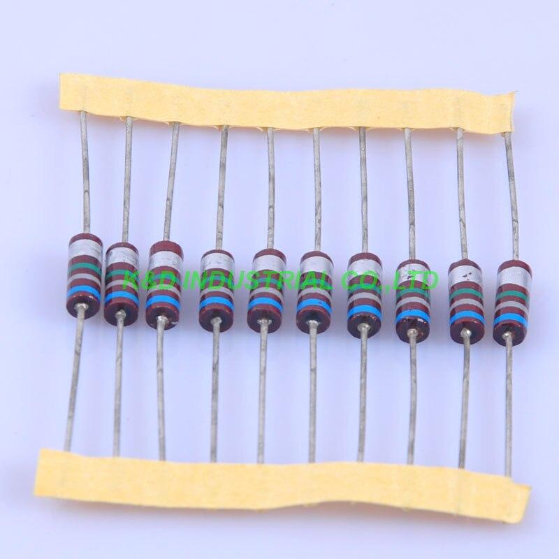 10 pcs Carbono Resistor 0.5 w 6.8 m ohm Composição do vintage