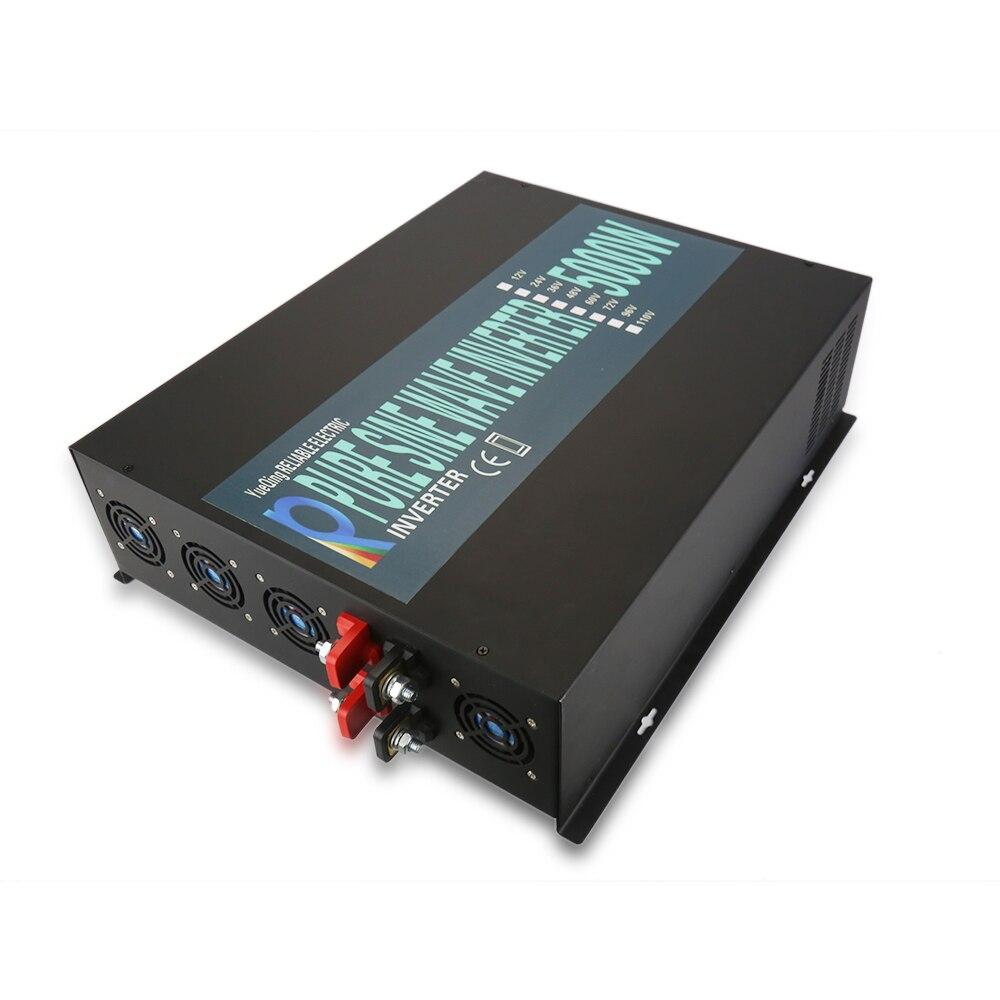 Onduleur solaire à onde sinusoïdale Pure fiable 5000 watts 12/24 V DC à 120 V convertisseur de courant alternatif haute fréquence moteur/congélateur