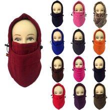 Hot Fashion Men Women Douleb Increase Fleece Headgear Cap Windproof Mask Hat Gift Macka Bonnet Red Orange