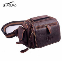 2016 Vintage Genuine Leather Bags Waist Packs For Men Belt Waist Bags For Men Casual Fashion