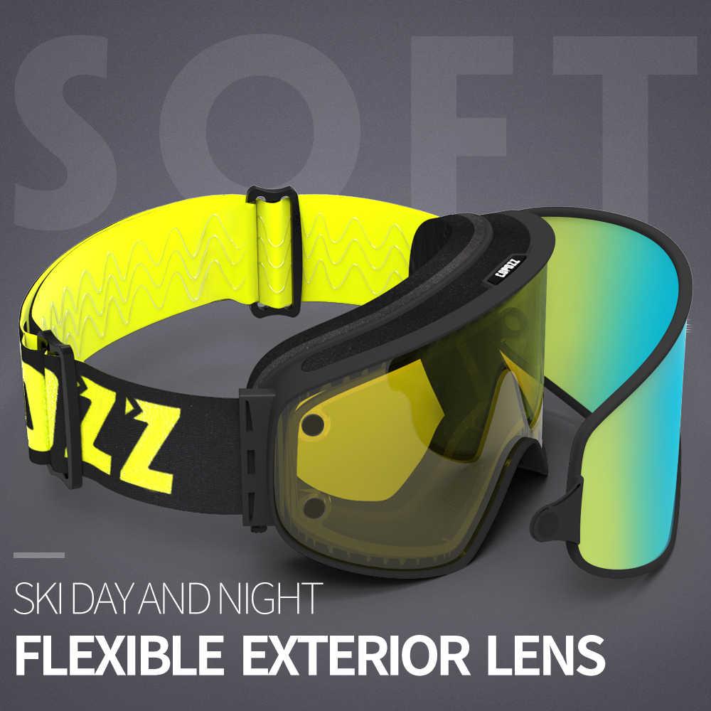 b17459e45eb ... COPOZZ Dual-use Ski Goggles with Magnetic Quick-change 2 in 1 Lens Anti  ...