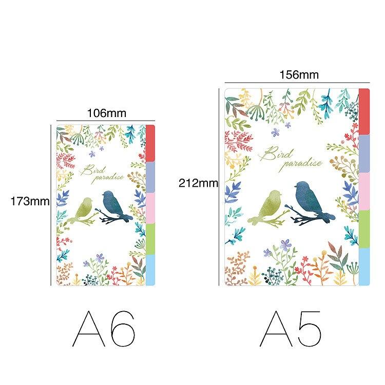 A5/A6 6 Holes Colored Notebook's Index Page 5pcs/set Matte S
