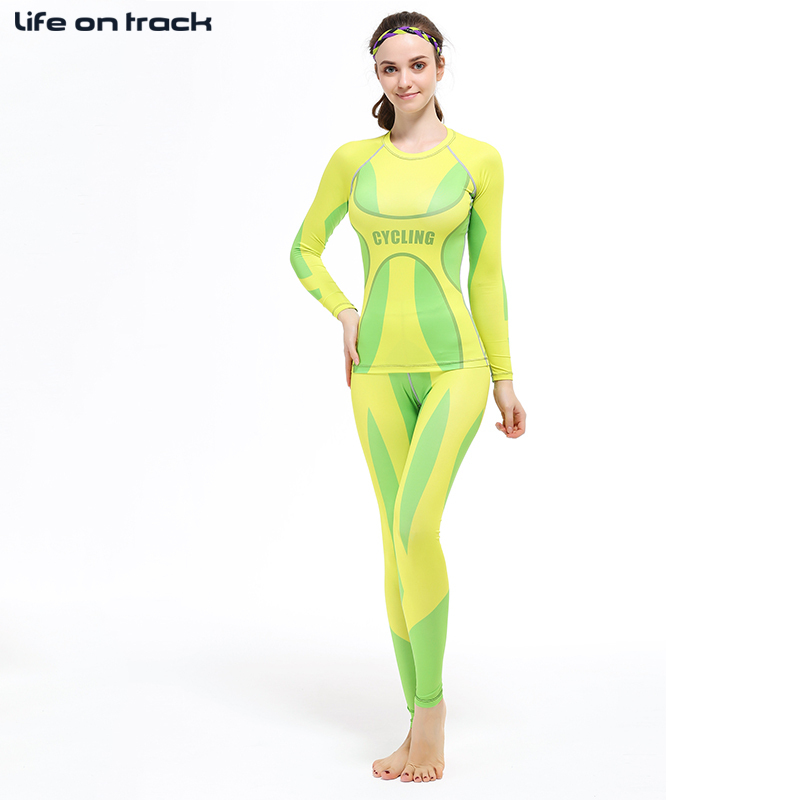 Cycling Fitness Training Women Tights Sports Elastic Jerseys Cycle sets Rashguard Set Bodybuilding GYM MMA Yoga XS-2XL rashguard mergulho rashguard a808