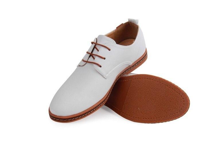 Hot Sale New oxford Casual shoes Men Fashion Men Leather Shoes Spring Autumn Men Flat Patent Leather Men Shoes WGL-K03-1 15