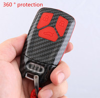 Car Styling Key Rings Protection Cover Sticker for Audi A4 B9 A5 S5 Q7 TT Protect Shell Cover Case Interior auto Accessories