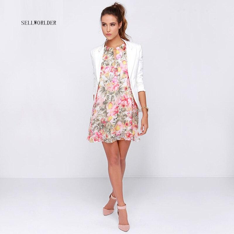 SELLWORLDER 2017 Frauen Sommer Strand Backless Blumenmuster - Damenbekleidung - Foto 3