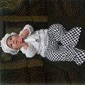 Мальчик девочка шеф-повар костюм младенческая малышей хлопок одежда набор hat + топ + брюки фотографии реквизит пурим Хэллоуин событие наряды