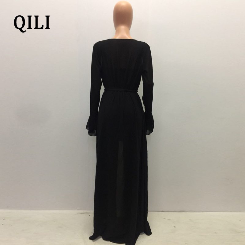 QILI Hot Sale 2018 Fashion Autumn Rompers Women Jumpsuits Slim Fit Two Piece Set Lady Long Sleeve Bodycon Jumpsuits Overalls in Jumpsuits from Women 39 s Clothing