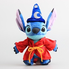 цены на 25CM Stitch Plush Doll Toys  Stitch Soft Stuffed For Kids Christmas Party Birthday gift  в интернет-магазинах