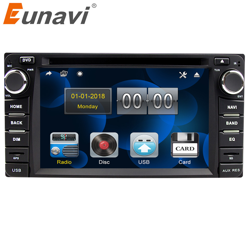 Eunavi 2din car dvd radio player for Toyota Hilux VIOS Old Camry Prado RAV4 Prado 2003-2008 gps navigation stereo touch screen