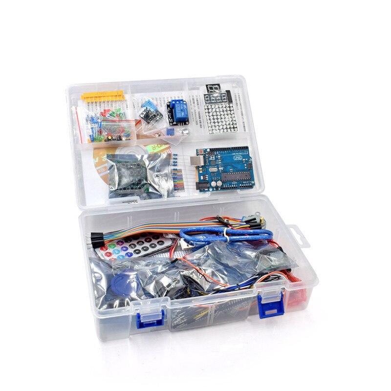 UNO проект супер RFID Starter Kit с уроки CD, реле, UNO R3, HC-SR04, SG90 servo, т. д. Для UNO R3 обучения Пусковые устройства